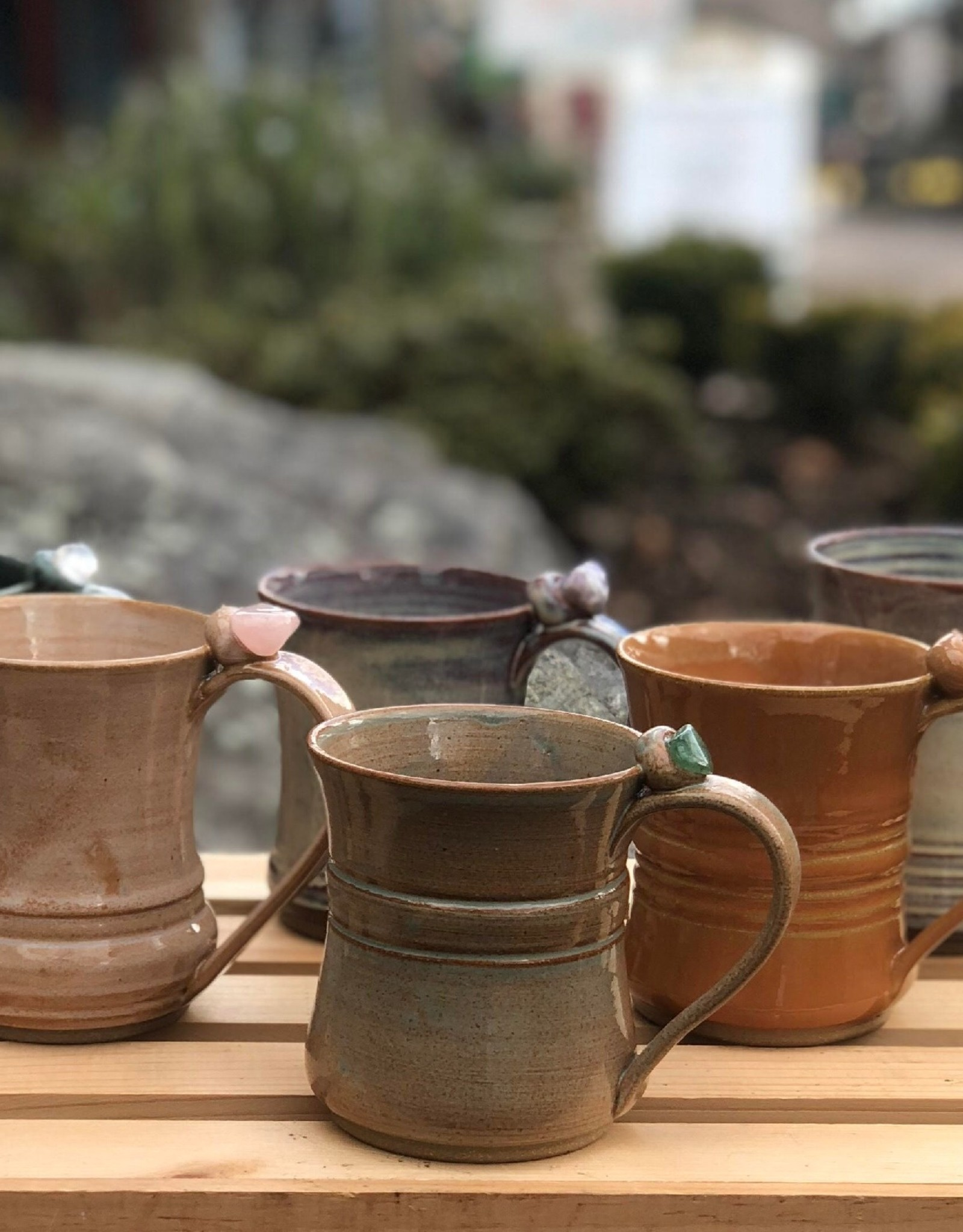 Burnt Mill Potters Crystal Healing Mug (Assorted)