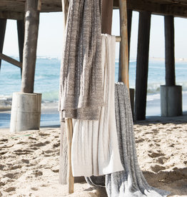 Barefoot Dreams Cozychic Lite Heathered Cable Blanket