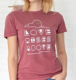 LOVE RISES ABOVE Red Clay Cotton Unisex Crew