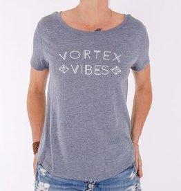 VORTEX VIBES Grey Short Sleeve Tee