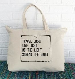 TRAVEL LIGHT... Carry All Tote Bag