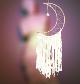 dZi Inc. White Moon Dream Catcher