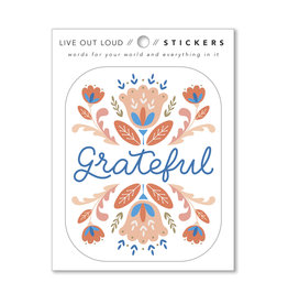 Compendium, Inc. Grateful - Sticker DC