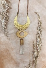 Flatwoods Fawn Mythic Necklace with Eye of Protection and Quartz Crystal