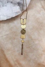 Flatwoods Fawn Nona Necklace with Triple Moon and Star / Protection Talisman