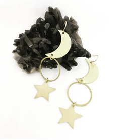 Flatwoods Fawn Rhiannon Moon and Star Earrings