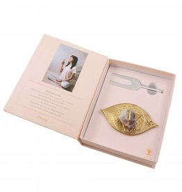 Ariana Ost Sound Healing Crystal Kit: Third Eye Gold/Amethyst