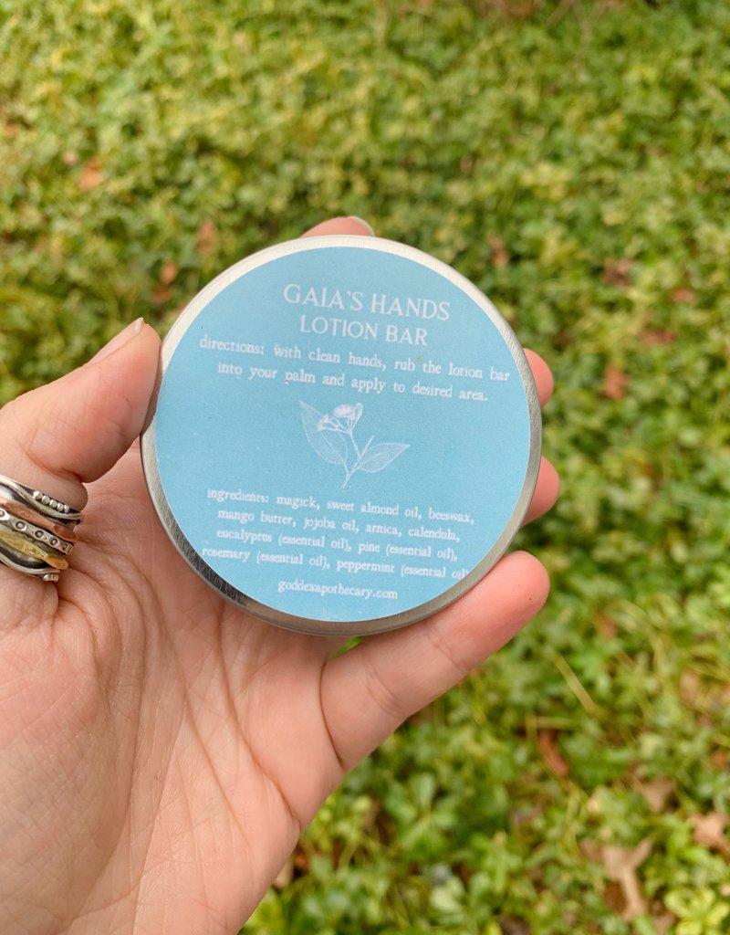 Goddex Apothecary Gaia's Hands Lotion Bar with Tin
