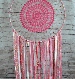 Modelli Creations Boho Dream Catcher in Pink