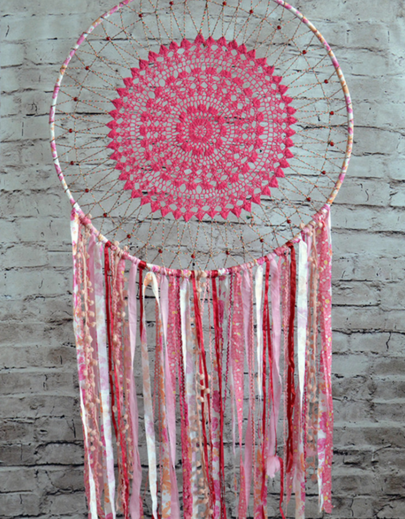 Modelli Creations Boho Dream Catcher in Pink