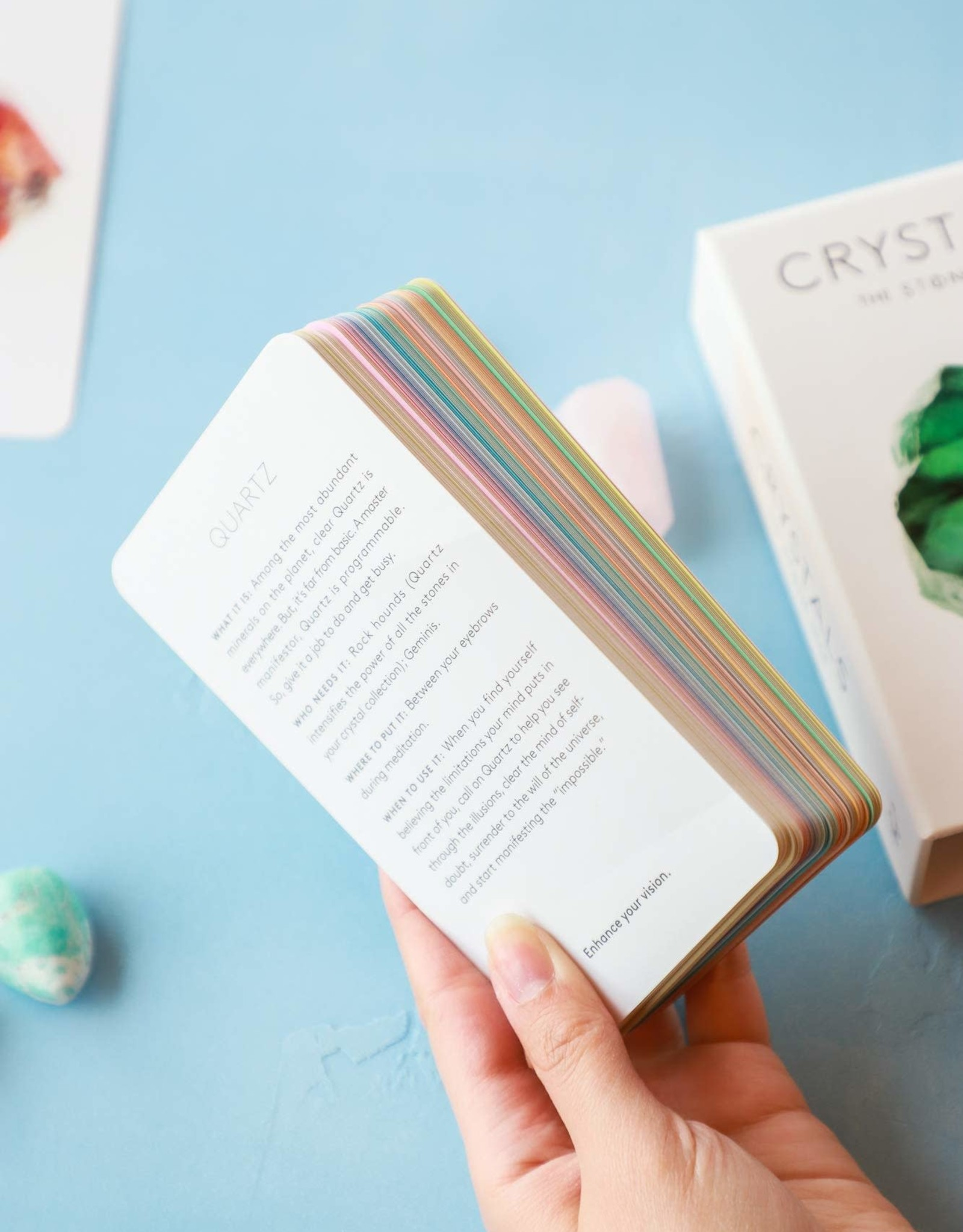 Chronicle Books Crystals The Stone Deck
