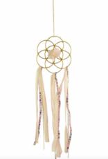 Ariana Ost Dreamcatcher Crystal Grid - rose quartz pink