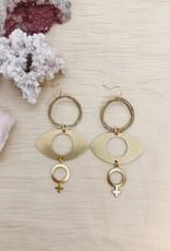 Flatwoods Fawn Sisterhood Feminist Earrings (DC)