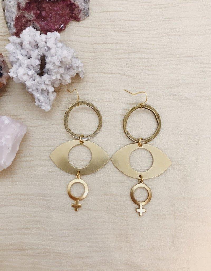 Flatwoods Fawn Sisterhood Feminist Earrings