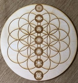 Zen and Meow Chakra Flower of Life Grid