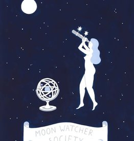 Lisa Junius Moon Watcher Society Print