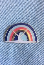 Lisa Junius Rainbow Woman Pin