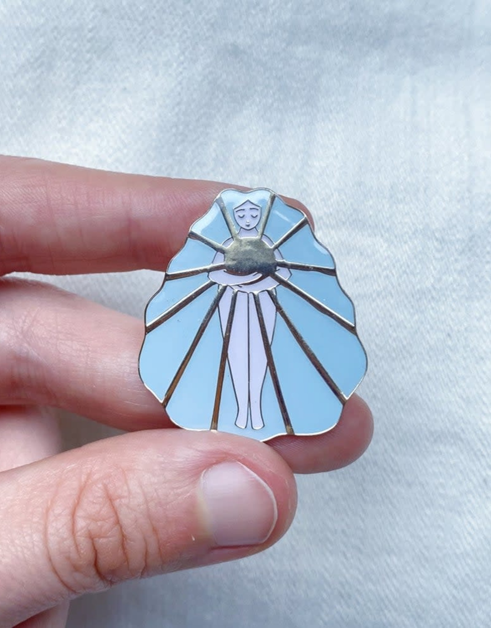 Lisa Junius Sun Girl Pin