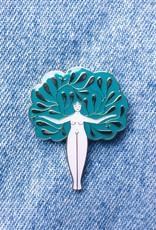 Lisa Junius Tree Woman Pin