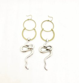 Flatwoods Fawn Sybil Snake Earrings