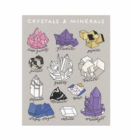 Worthwhile Paper Crystals and Minerals Print