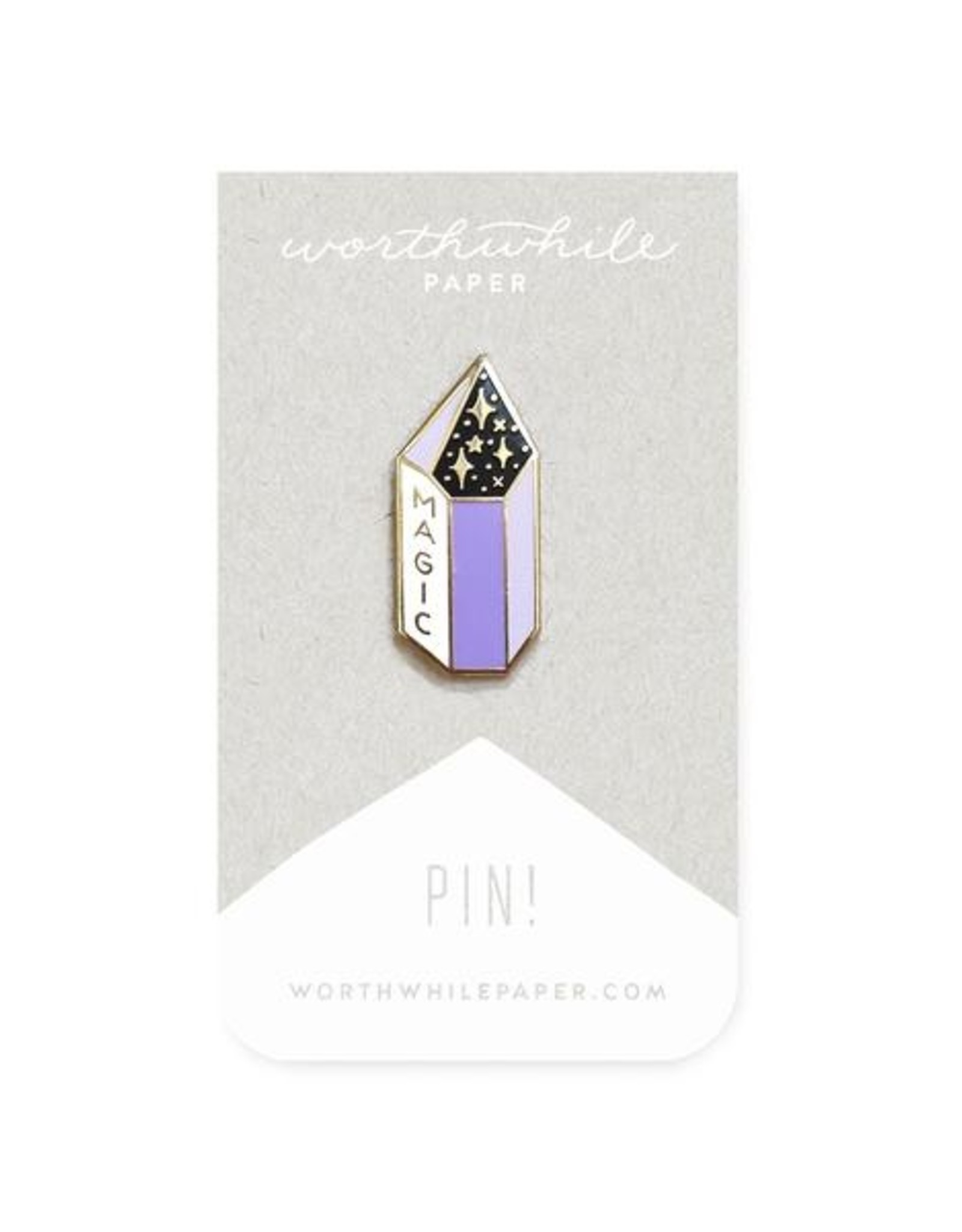 Worthwhile Paper Magic Amethyst Pin