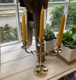 New Age Imports, Inc. Solid Brass 3-Candle Holder