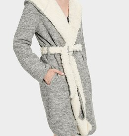 UGG Portola Reversible Robe Grey Heather