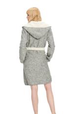 UGG Portola Reversible Robe Grey Heather