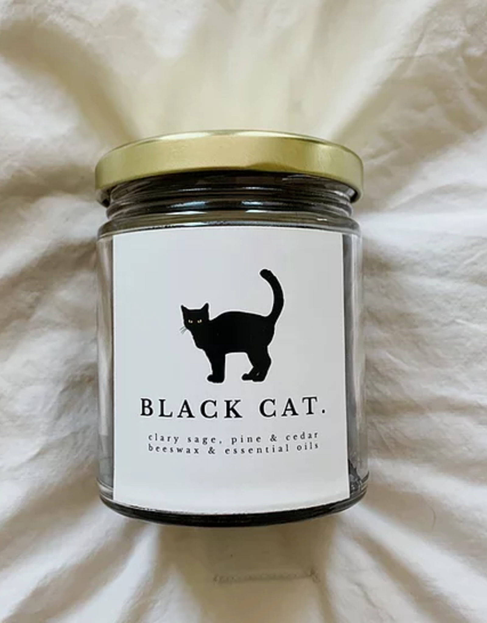 Vestal Candle Black Cat