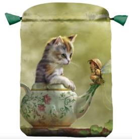 Llewelyn Fantasy Cat Satin Bag