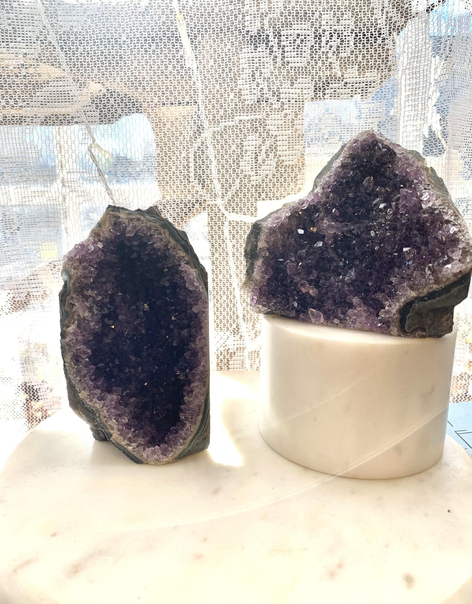 Pelham Grayson Amethyst Cluster - Cut Base Medium