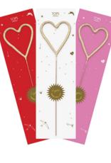 TOPS Malibu Big Golden Sparkler Wand Heart