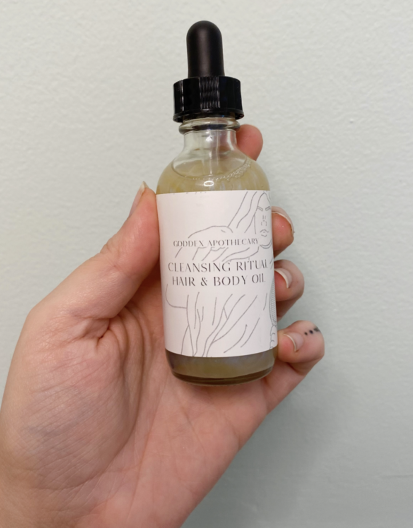 Goddex Apothecary Cleansing Ritual Hair and Body Oil