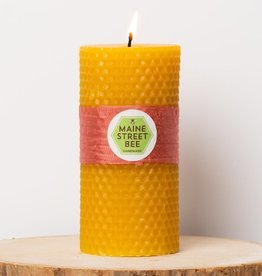 "Maine Street Bee, LLC 4.75"" Natural Beeswax Honeycomb Candle"