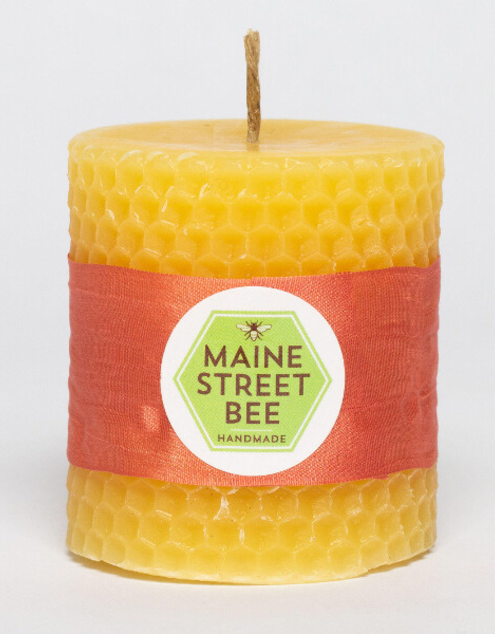 """Maine Street Bee, LLC 3"""" Natural Beeswax Honeycomb Candle"""
