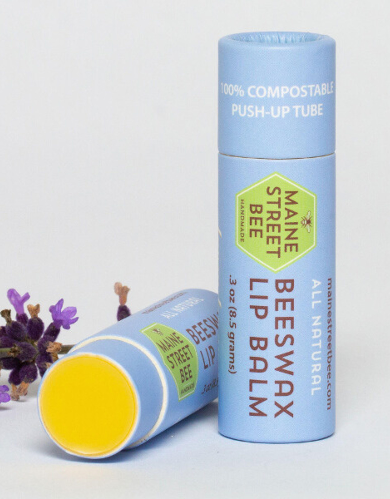 Maine Street Bee, LLC Natural Lavender/Orange Beeswax Lip Balm