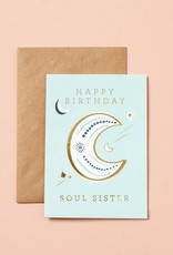 type and story Birthday Moon Card: Mint Green