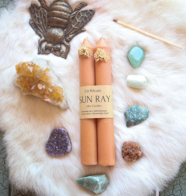 Litrituals Large 'Sun Ray' Beeswax Altar Candles