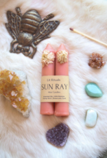 Litrituals Small 'Sun Ray' Beeswax Altar Candles