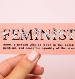 Little Woman Goods Feminist Definition Vinyl Sticker