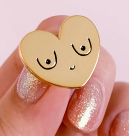 Little Woman Goods Gold Boob Enamel Pin