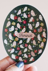 Little Woman Goods Feminist Floral Vinyl Sticker (DC)