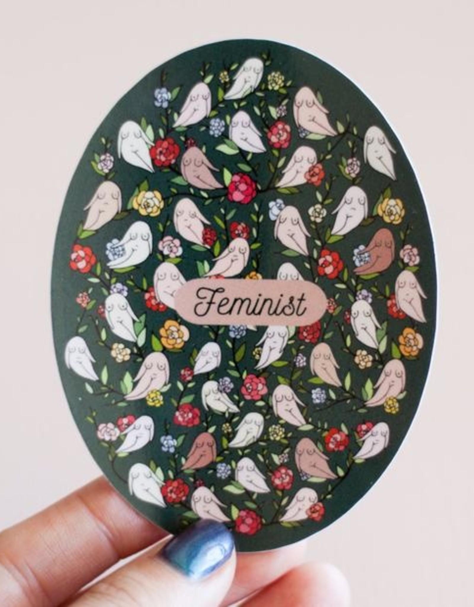 Discontinued Items Feminist Floral Vinyl Sticker (DC)