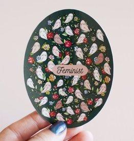 Archived Feminist Floral Vinyl Sticker (DC)