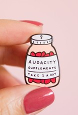 Little Woman Goods Audacity Supplements Enamel Pin