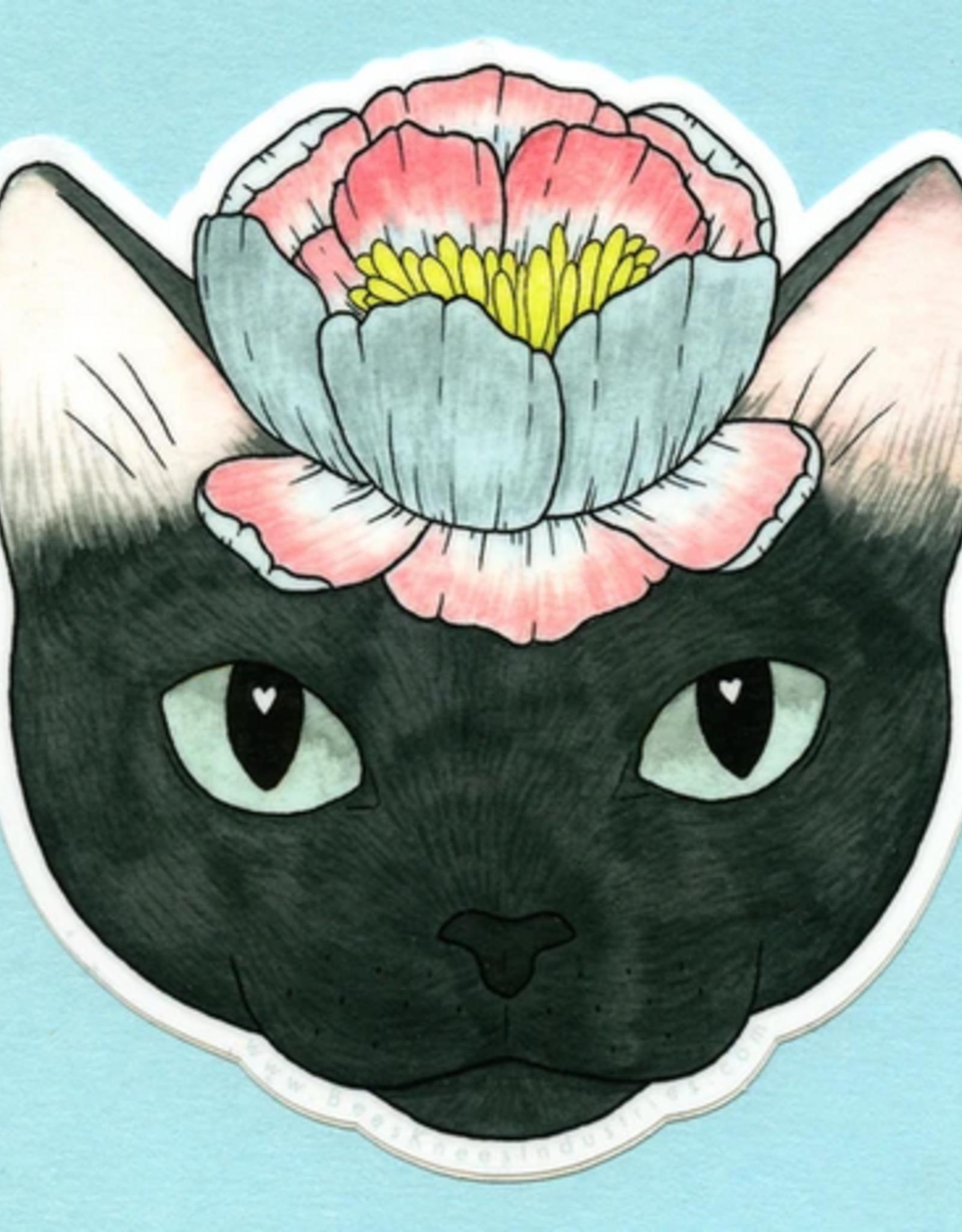 Bee's Knees Industries Flower Cat Vinyl Sticker