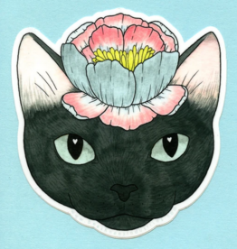 Bee's Knees Industries Flower Cat Vinyl Sticker