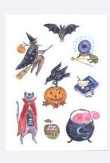 Ingrid Press Halloween   Vinyl Die-Cut Sticker Sheet