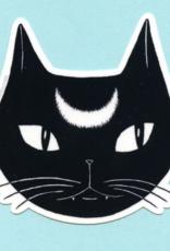 Bee's Knees Industries Black Lunar Cat Vinyl Sticker